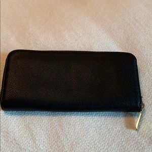 Black faux leather wallet